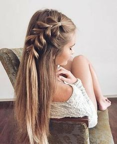 The Best Braids for Long Hair Boss Babes Frisuren Frisuren 2016 Frisuren 2017 Frauen Kurze Frisuren Frisur The post The Best Braids for Long Hair Boss Babes appeared first on Pin makeup. Easy Summer Hairstyles, Long Hairstyles, Pretty Hairstyles, Wedding Hairstyles, Simple Hairstyles, Long Haircuts, Teenage Hairstyles, Straight Hairstyles For Long Hair, Side Braids For Long Hair