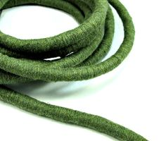 Khaki cotton cord thick wrapped cord 1m by OandN on Etsy #craftsupplies #cord #rope #jewelrysupplies #green