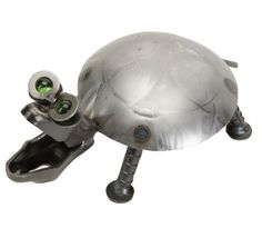 Glass Eye Turtle - Recycled Metal Yard Art Made in the USA