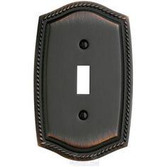 Baldwin Hardware - Switchplates - Single Toggle Rope Switchplate in Venetian Bronze