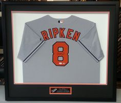 Custom framed Cal Ripken Baltimore Orioles jersey. Custom framed by  FastFrame of LoDo.   e59bda4dc