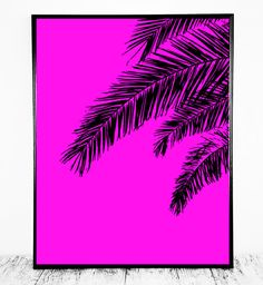 Pink Palm Pink Palm Print Pink Palm Tree Print by CristylClear