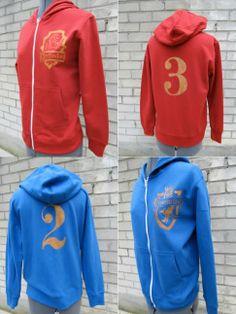 Super cool crafted quidditch sweatshirts