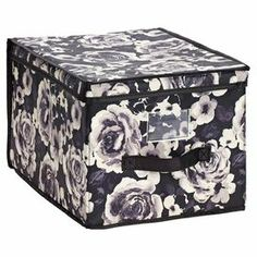 """Storage box with a label window.  Product: Storage boxConstruction Material: NylonColor: Fleur Dimensions: 10"""" H x 12"""" W x 16"""" D"""