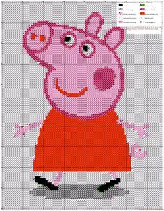 Peppa Pig Peppa Cerdita Peppa patrón punto de cruz crosti app android