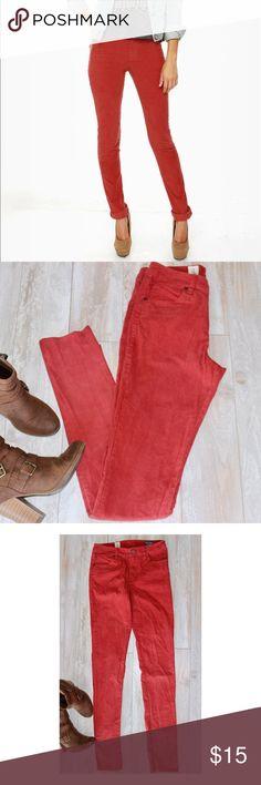 Volcom Skinny Corduroy Volcom high waist fit corduroy skinny pant, rust red size 25 ,like new ❤️ Volcom Pants Skinny