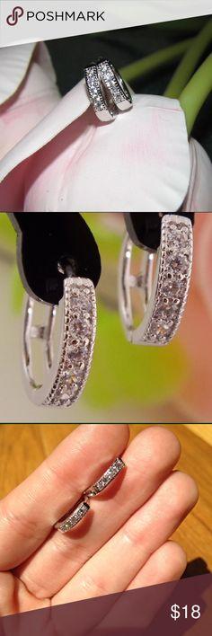 Stunning CZ Hoop Earrings Beautiful CZ huggie hoop earrings  Jewelry Earrings