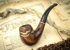 Pipa que fuma Corriente del Golfo. Pipa de madera por SovietHouse