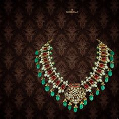 This royal statement necklace with green and red stones is all you need to add a lift to your traditional attire. By Just Jewellery, at Minerali. #minerali_store #necklace #green #red #jewellery #stones #class #fashion #indianjewellery #designerjewellery #pretty #justjewelryindia #justjewelry #linkingroad #bandra #minerali