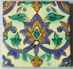 Tunisian California Arts and Crafts Tile Kallal el Kadine Nabeul