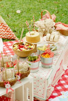First birthday picnic! Great ideas!