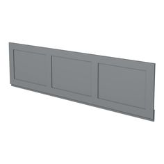 Camberley Grey wooden straight bath front panel 1700