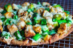 chicken asparagus avocado pizza