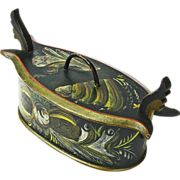 Os Rosemaling Painted Norwegian Tine, Ca. 1880, Lay-a-way possible