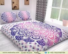 Bhagyoday FashionsTM Twin Ombre Reversible Indian Duvet Doona Cover Comforter Mandala Hippie Bohemian Quilt Cover Art With Pillow Cover inch Bohemian Bedding Sets, Luxury Bedding Sets, Mandala Hippie, Purple Duvet, Modern Duvet Covers, Where To Buy Bedding, Mandala Duvet Cover, How To Dress A Bed, Luxury Bedding Collections