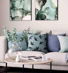 #interiør #vår #2020 #inspirasjon | Kremmerhuset Living Room Interior, Scandinavian Style, Throw Pillows, Interior Design, Decoration, Bed, Modern, Home Decor, Design Interiors