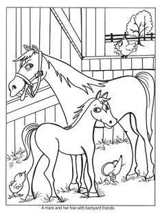Kleurplaat paard 7