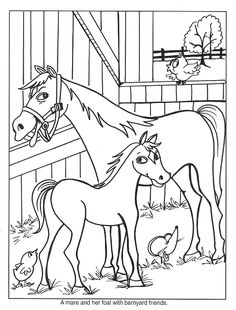 Free Horse Coloring Page Animal Pages 44 Printable