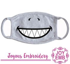 Machine Embroidery Applique, Embroidery Files, Embroidery Patterns, Sewing Patterns, Shark Mask, Biscuit, Chibi, Face Masks For Kids, Star Stitch