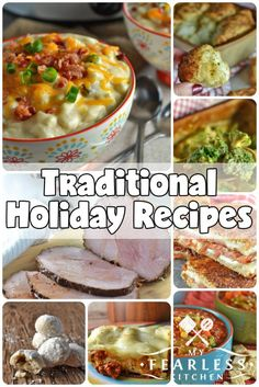 Holiday Traditions & Recipes from My Fearless Kitchen. This list of tried and true recipes always make our holiday tables. Check out these recipes, and find some new delicious holiday traditions for your family! Thanksgiving Recipes, Fall Recipes, Holiday Recipes, Great Recipes, Holiday Meals, Christmas Recipes, Christmas Dinner Menu, Christmas Cooking, Easy Weeknight Meals