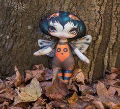 Jasmine Becket Griffith Owl Soft Stuffed Toy Autumn Handmade Owlyn Cloth Doll | eBay