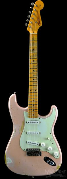 Fender 1956 AA Flame Stratocaster Heavy Relic Shell Pink - Wild West Guitars