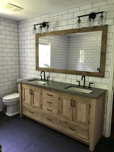 Rustic Vanity - Dual Sink, Reclaimed Barn Wood w/Paneled Doors Raised Grain Removed (Unfinished) CUSTOM Rustic Bathroom Vanity Bathroom Vanity Designs, Rustic Bathroom Designs, Rustic Bathroom Vanities, Rustic Bathrooms, Bathroom Storage, Bathroom Interior, Bathroom Ideas, Barn Bathroom, Bathroom Cabinets