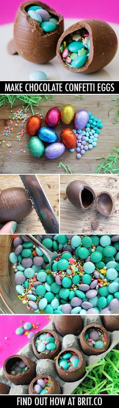 How to Make Homemade Chocolate Confetti Eggs | Brit + Co.