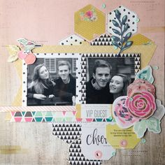 A layout made with Maggie Holmes' Confetti collection.