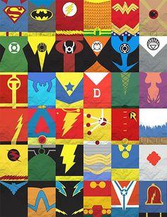 superman quilt | DC logos found at supermannerd.tumblr.com