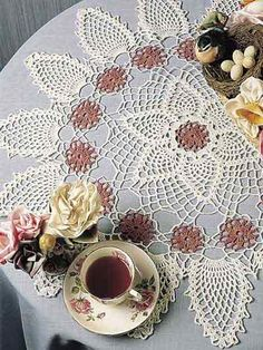 Crochet - Doilies - Pineapples - Pinks & Pineapples Doily - #FC00741