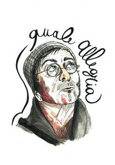 Lucio Dalla Tribute portrait by irene chiapatti