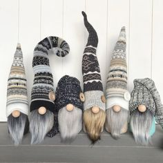 A large portion of our drop will be Valentine's Day themed, but I made sure to include a handful of neutral wintery gnomes! I love the squiggly hat brown bearded gnomie!These neutral winter gnomes are perfect for your farmhouse winter decor. Christmas Gnome, Christmas Projects, Winter Christmas, Christmas Christmas, Cute Crafts, Holiday Crafts, Diy Crafts, Decor Crafts, Scandinavian Gnomes