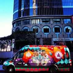 Elabrew Coffee Truck, LA. You can't miss this bright funky truck!