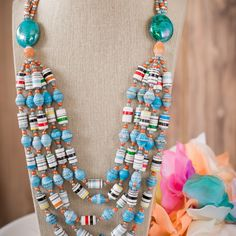 Luxury & fashion jewelry to uplift the less privileged by AurumDesignerJewelry Browse unique items from Udaanmadewithlove on Etsy, a global marketplace of handmade, vintage and creative goods. Make Paper Beads, Paper Bead Jewelry, Beaded Jewelry Designs, Fabric Jewelry, How To Make Beads, Jewelry Art, Fashion Jewelry, Jewlery, Quilling