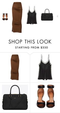 """""""Untitled #2989"""" by amberelb ❤ liked on Polyvore featuring Givenchy, Kiki de Montparnasse and Yves Saint Laurent"""