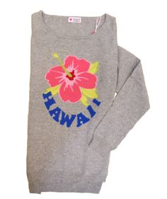 30214-105 / Colour: Silver gray / Brand: herzensangelegenheit / Size: 36 ***100% Cashmere #musthave #flowerprint #hawaii