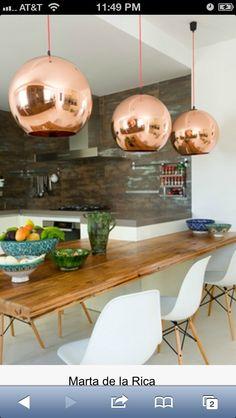 Organic modern dining room