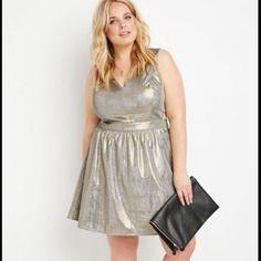 Forever 21 Gold Dress