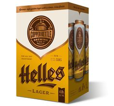 Copper Kettle Helles 6-pack Cans - design by Emrich Office