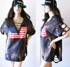 Wildest Dreamer American Flag beached distressed lace up