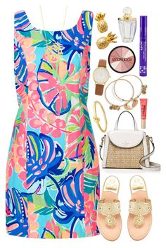 """""""New contest in the d"""" by lbkatie17 on Polyvore featuring Lilly Pulitzer, Kate Spade, Jack Rogers, BaubleBar, Alex and Ani, Too Faced Cosmetics, Smashbox, NYX and klm17bdayandschoolcontest"""