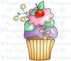 A Cupcake for Mom - Desserts - Food/Beverages - Rubber Stamps - Shop