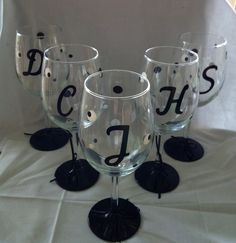 Bachelorette wine glass Bridesmaid wine glass by kreationsbykjs, $11.00