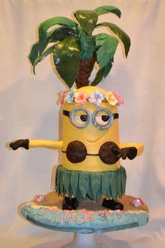Hula Minion - by Jenny Kennedy @ CakesDecor.com - cake decorating website