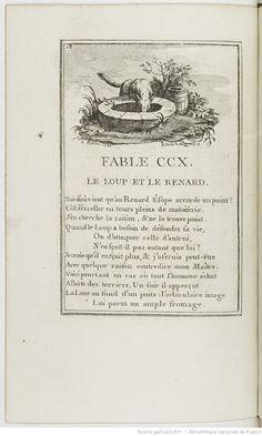 Fables choisies mises en vers, par J. de La Fontaine, nouvelle édition gravée en taille-douce, les figures par le sr Fessard, le texte par le sr Montulay, dédiées aux enfans de France