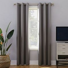 Sun Zero Cameron Thermal Insulated 100% Blackout Grommet Curtain Panel   Kohls Curtains Kohls, Grommet Curtains, Drapes Curtains, Drapery, Blackout Windows, Blackout Curtains, Curtain Lights, Room Darkening Curtains, Home Movies