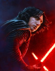S-515 Hot Star Wars The Rise Of Skywalker Rey VS Kylo Poster Wall Art