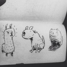 #inktober día 13.  much art wow. So inky lol ✨ . #ink #inktober2015 #doodle #doodlegram #moneando #dibujo #draw #illustration #ilustracion #dailysketch #dailydrawing #sketch #sketchbook #black #brushpen #blackandwhite