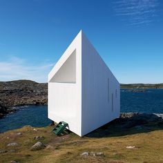 Artist's studio designed by Todd Saunders on the island of Fogo off the coast of Newfoundland.